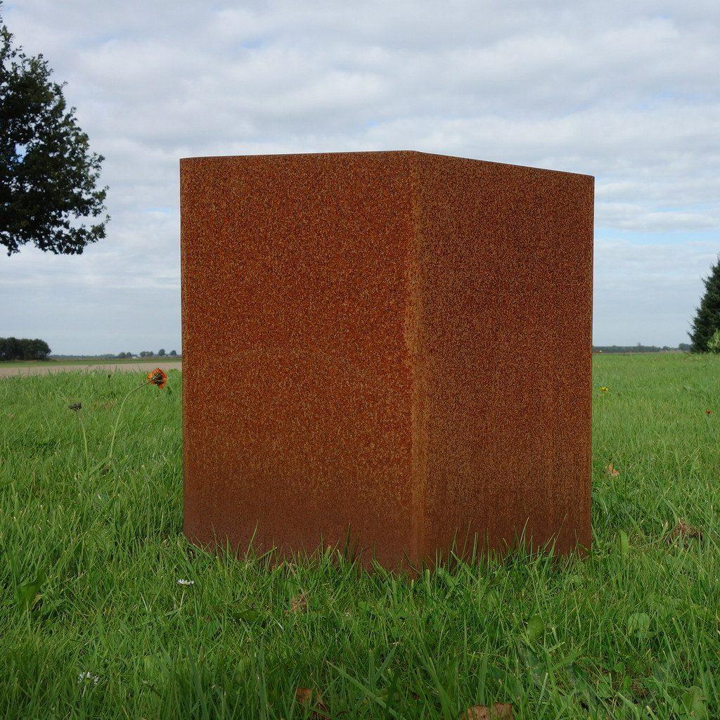 Cortenstalen tuinblok